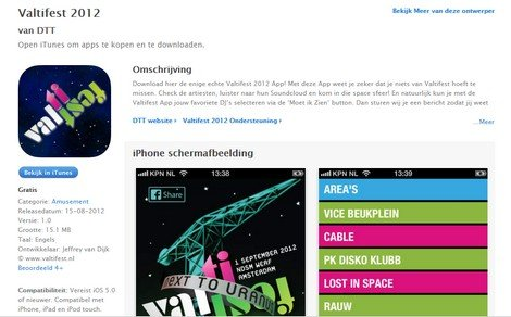 Valtifest 2012 in the App Store! - DTT blog