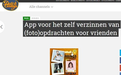 What You Doing? on dutchcowboys.nl! - DTT blog