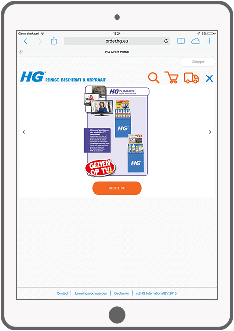 Function View and order campaign and promotion products - HG Order Portal